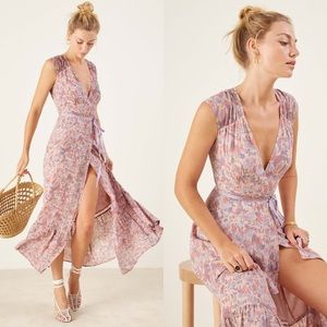 Reformation Haven Carole Floral Wrap Maxi Dress